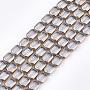 10mm Clair Rectangle Verre Perles(X-EGLA-S188-10G)