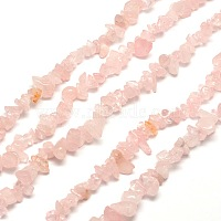 Natural Rose Quartz Chip Bead Strands, 5~8x5~8mm, Hole: 1mm, about 31.5 inches