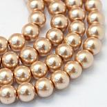 14mm BurlyWood Round Glass Beads(HY-Q003-14mm-11)