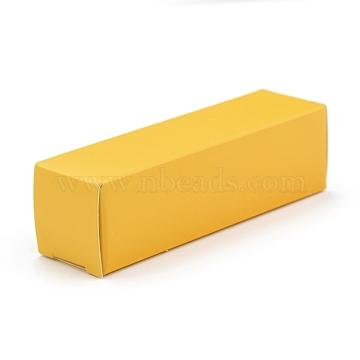 Foldable Kraft Paper Box, for Lipstick Packaging, Rectangle, Orange, 15.9x5x0.15cm(CON-K008-D-03)