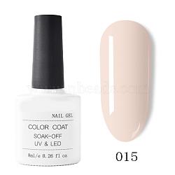gel de couleur de peinture à ongles, gel uv de couleur pure, pour la conception d'art d'ongle, couleur de coquillage, 7.2x3.2 cm; 8 ml / bouteille(MRMJ-T009-029-15)