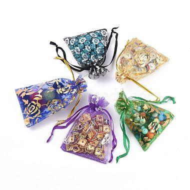 Printed Organza Bags(X-OP-R024-7x9-M)-3