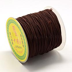 Эластичный шнур круглого, со слоем снаружи и резины внутри, коричневые, 0.8 мм; около 63~65 м / рулон(EC-R029-0.8mm-03)