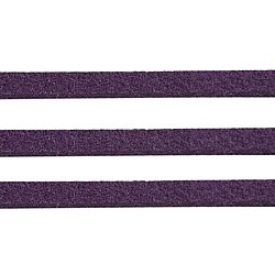 Darkviolet ton daim cordon, dentelle de faux suède, environ 1 m de long,  largeur de 2.5 mm, environ 1.4 mm d'épaisseur, 1 m / chapelet(X-LW14191Y)
