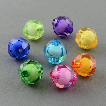 11mm Mixed Color Round Acrylic Beads