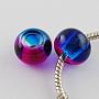 Medium Violet Red Rondelle Glass Beads(X-DGLA-R016-8mm-05)