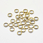 Real 18K Gold Plated Flat Round Brass Spacer Beads(X-KK-K193-090G-NF)
