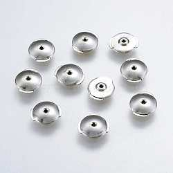 Écrou d'oreille en 925 argent sterling, platine, 8x9x2mm, Trou: 0.8mm(X-STER-K037-055C)