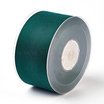 Rayon and Cotton Ribbon, Twill Tape Ribbon, Herringbone Ribbon, Dark Slate Gray, 1-1/4 inches(32mm), about 50yards/roll(45.72m/roll)(SRIB-F007-593-32mm)