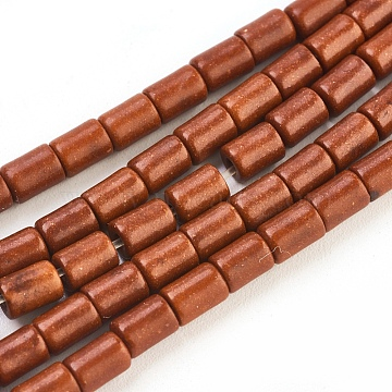 5mm FireBrick Column Synthetic Turquoise Beads