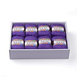 Soft Baby Knitting Yarns, with Cashmere, Wool and Antistatic Fibre, Mauve, 2mm; about 50g/roll, 8rolls/box(YCOR-R021-H15)