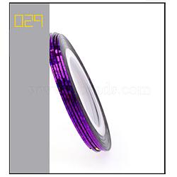 Ligne de ruban à rayures laser, nail art autocollant conseils décoration, rouleau d'autocollants nail art, Darkviolet, 4.3cm; 20m / rouleau(MRMJ-L003-A30)