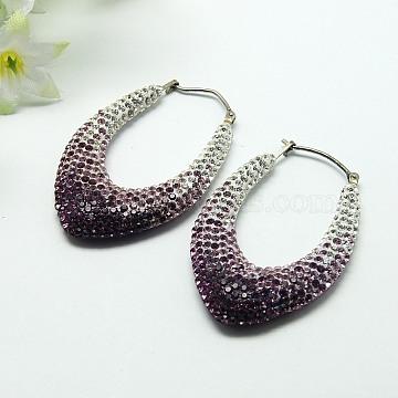 41mm Resin+Austrian Crystal Earrings
