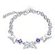 Brass Butterfly Link Bracelets(BJEW-BB17063)-1
