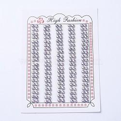 естественный культурный жемчуг пресноводных, половине просверлил, вокруг, slateblue, 3.5~4x2.5 mm, отверстия: 1 mm(PEAR-I004H-01)