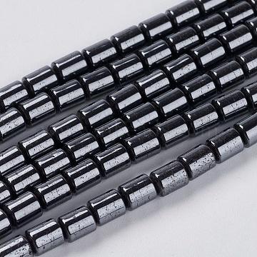 5mm Black Column Non-magnetic Hematite Beads