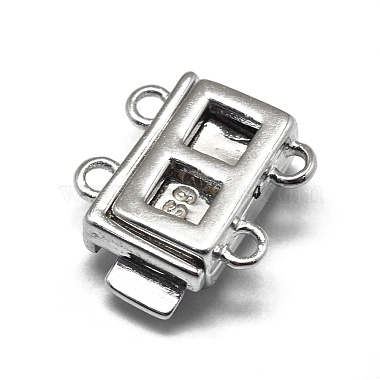 925 Sterling Silver Box Clasps(STER-L057-016P)-2