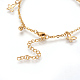 304 Stainless Steel Charm Anklets(AJEW-O028-04G)-3