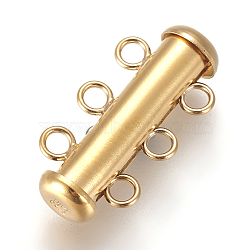résultats jk, fermetures à glissière en or jaune, 4 brin, 8-trou, Tube, 1 / 20 14 k rempli d'or, 20.5x10.5 mm, trou: 2 mm(KK-F779-02G)