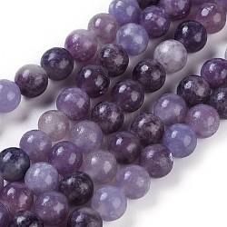 """Lépidolite naturelle / mica mauve perles de rocaille, rond, 6mm, trou: 1mm; environ 63 pcs/chapelet, 15.94"""" (40.5 cm)(G-E545-01A)"""