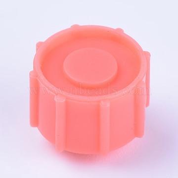 Plastic Stopper, Dispensing Industrial Syringe Barrel Tip Caps, Orange, 12~12.5x10mm(TOOL-WH0103-11C)