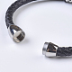 Men's Braided Leather Cord Bracelets(BJEW-P194-09)-2