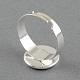 Brass Pad Ring Settings(X-MAK-S018-16mm-JN003S)-2