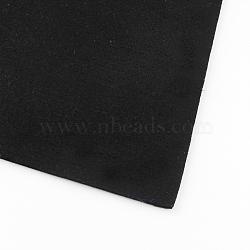 Feutre à l'aiguille de broderie de tissu non tissé pour l'artisanat de bricolage, noir, 30x30x0.2~0.3 cm; 10 pcs / sac(DIY-R061-01)