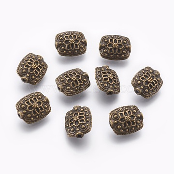 13mm Rectangle Alloy Beads