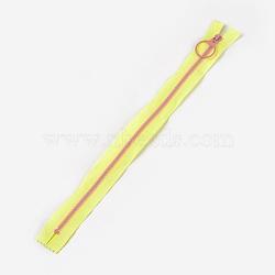 аксессуары для одежды, нейлон и смола закрытой молнией, застежка-молния, желтый, 33.3~33.5x2.8x0.2 cm(FIND-WH0028-04-A03)