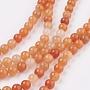 Orange Round Red Aventurine Beads(X-GSR10mmC023)