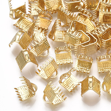 Real Gold Plated Brass Cord Ends