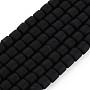 Black Column Polymer Clay Beads(CLAY-ZX006-01L)