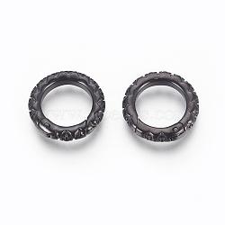 Anneau de porte à ressort en 304 acier inoxydable, o bagues, gunmetal, 18x3.5 mm; intérieur: 12 mm(STAS-O114-089A-B)