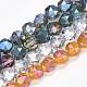 Chapelets de perles en verre galvanoplastique(EGLA-S176-04)-1