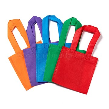 Eco-Friendly Reusable Bags, Non Woven Fabric Shopping Bags, Mixed Color, 28x15.5cm(ABAG-WH005-15cm-M)