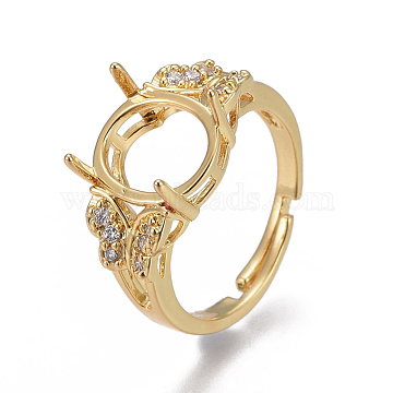 Golden Clear Brass Ring Components