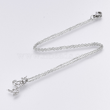 201 Stainless Steel Pendant Necklaces(NJEW-T009-JN130-40-1)-2