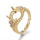 Environmental Adjustable Brass Finger Ring Components(MAK-F030-13G-NR)-1