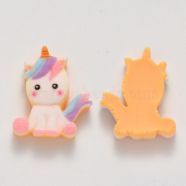 24mm Colorful Unicorn Resin Cabochons
