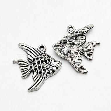 Antique Silver Fish Alloy Pendants