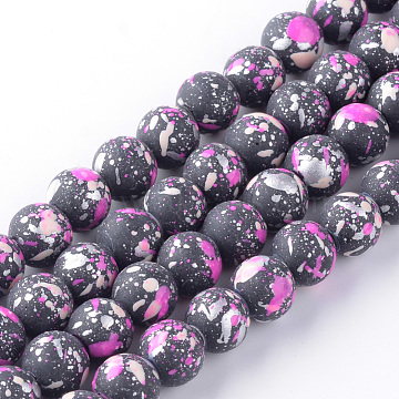 6mm Orchid Round Glass Beads