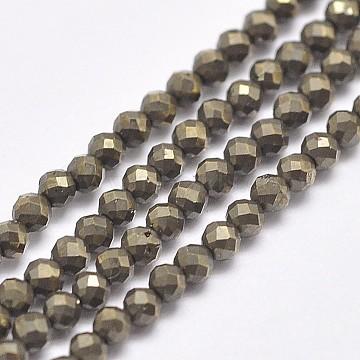 2mm Round Pyrite Beads