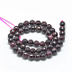Natural Garnet Beads Strands(X-G-R447-6mm-01)-2
