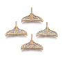 Light Gold Clear Brass+Cubic Zirconia Peg Bails(KK-S359-092-RS)