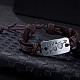 Unisex Trendy Leather Cord Bracelets(BJEW-BB15581-B)-2