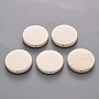 Antique White Flat Round Wood Beads(X-WOOD-S055-26A-01)