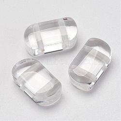 Многокристаллические кварцевые кристаллы, прямоугольные, 16x9x6 мм, отверстие : 2 мм(G-P265-05)