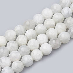 """Chapelets de perles en pierre de lune naturelle, rond, 6~7mm, trou: 1mm; environ 60~67 pcs/chapelet, 15.7""""(G-S333-6mm-002)"""