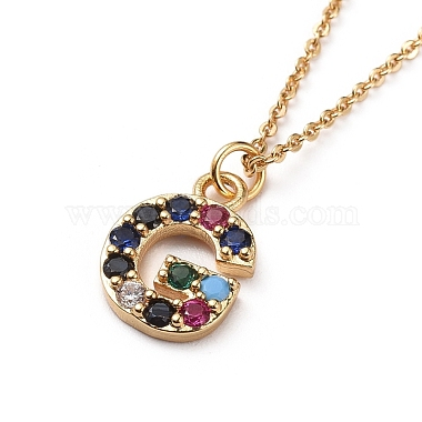 Letter Brass Micro Pave Cubic Zirconia Initial Pendants Necklaces(NJEW-JN02585-07)-2
